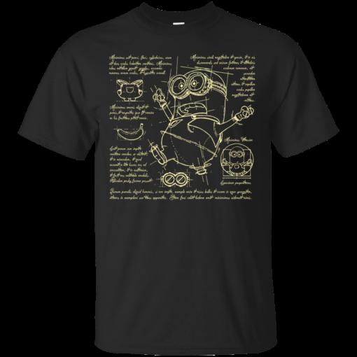 MinionPlan 2 leonardo da vinci Cotton T-Shirt