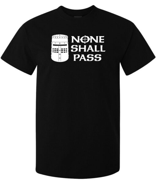 Monty Python And The Holy Grail Black Knight Will No Black Men T Shirt