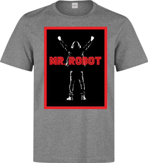 Mr Robot Cyber Hackers Poster Men Tv Series Elliot Gray Work T Shirt