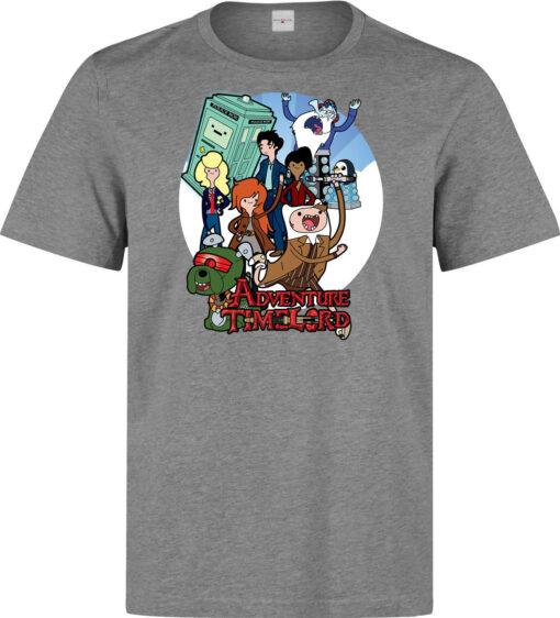 Mr. Finn Adventure Time Jake Doctor Mashup Top Quality Gray Shir Men T Shirt