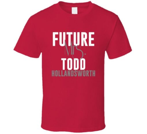 Mrs. Todd Hollandsworth Futura 2005 Atlanta Baseball T Shirt