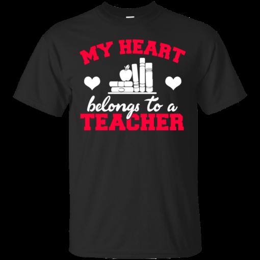 My Heart Belongs to a Teacher Teacher teacher Cotton T-Shirt