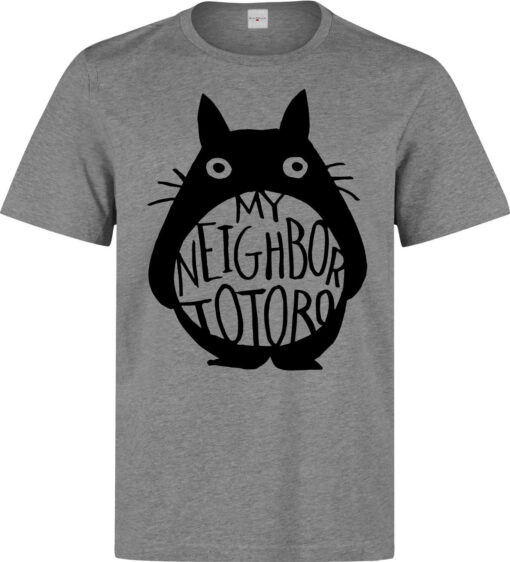 My Neighbor Totoro Art With Simple Style Of Men (Women Available) Gray T Shirt