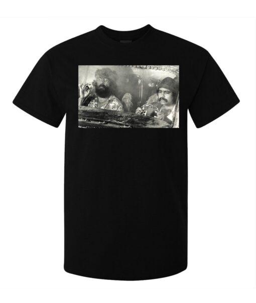 Neck Black Water (Available For Women) Vintage Men Cheech & Chong T Shirt