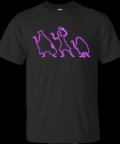 Neon Grim Grinning Ghosts Cotton T-Shirt