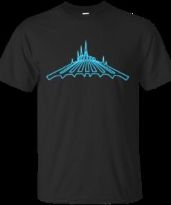 Neon Space Mountain Cotton T-Shirt