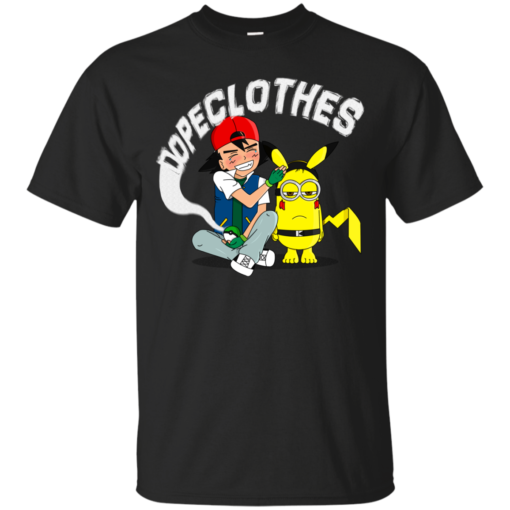 Not Pikachu Dope Ash minions Cotton T-Shirt