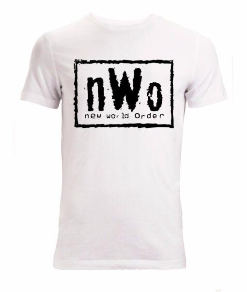 Nwo New World Order Illustrations Black Men White T Shirt