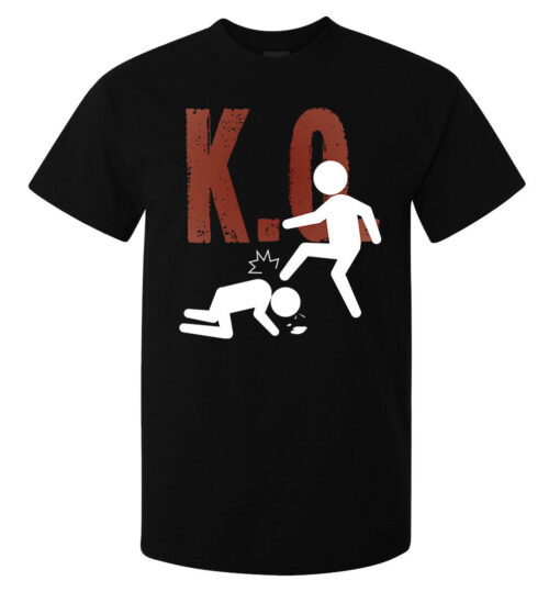 O. K. Lema Funny Men Fighting Black Jersey Top Quality (Available For Women) T Shirt