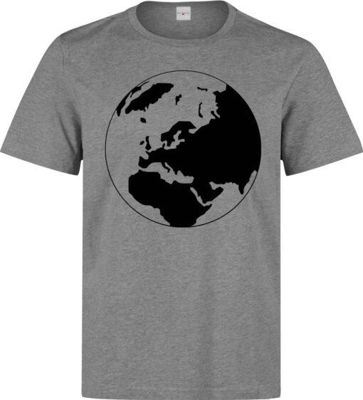 Of Black Fragile Planet Earth Art World Top Men Gray T Shirt
