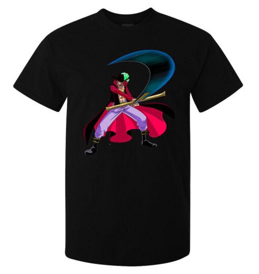 One Piece (Available For Women) Men Black Dracule Mihawk Zoro Master Art T Shirt