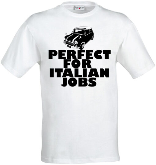 Original Mini Perfect For Italian Men Funny Occupation Cooper Graphic White T Shirt