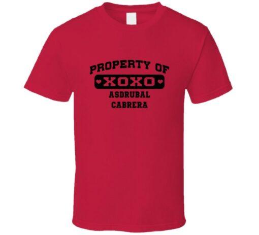 Owned By Asdrubal Cabrera Cleveland Baseball 2014 T T Shirt