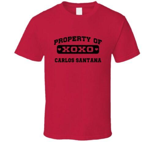 Owned By Carlos Santana Cleveland Baseball 2014 T T Shirt