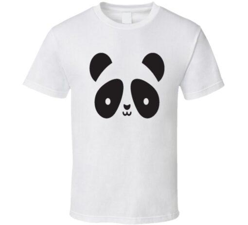 Panda Panda Face Logo T Shirt