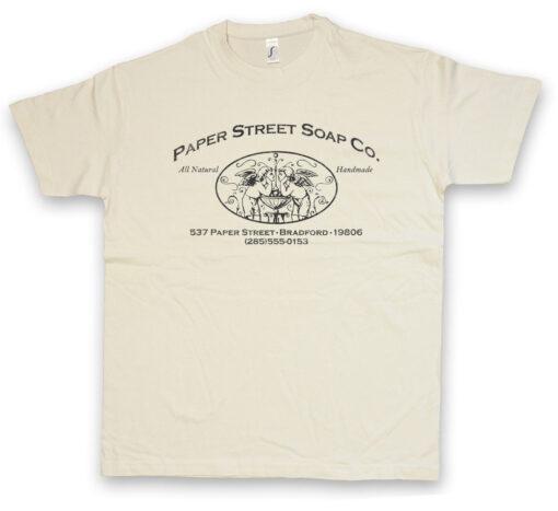 Paper Street Soap Co. Film Fight Club Sign Logos Company Logo T Shirt