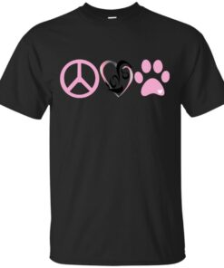 Peace Love Animals Cotton T-Shirt