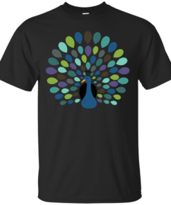 Peacock Time Cotton T-Shirt