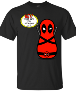 Peanut DeadPool Hey merc Cotton T-Shirt