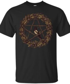 Pentacle Wreath Wild Witch Cotton T-Shirt