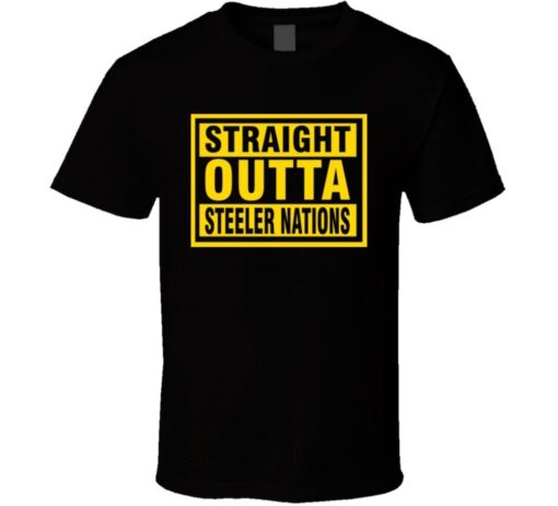 Pittsburgh Steelers Football Straight Outta Nation T Shirt