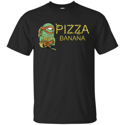 Pizza in Banana frutas Cotton T-Shirt