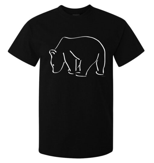 Polar Bear Logo Artwork Graphic Men (Women Available) Black T Shirt