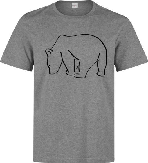 Polar Bear Logo Graphic Illustrations Men (Women Available) Gray T Shirt
