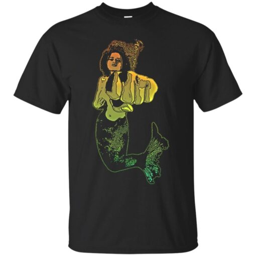 Punching Mermaid Cotton T-Shirt