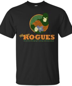 ROGUES MIRROR DISTRESSED Cotton T-Shirt