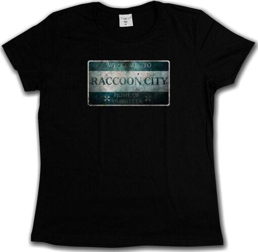 Raccoon City Sign - Zombie Resident Evil Wesker Umbrella Logo Nemesis T Shirt