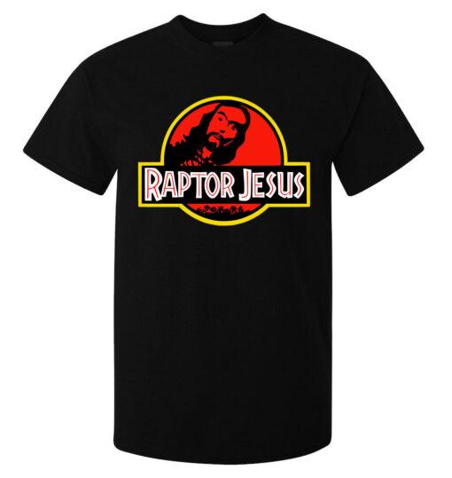 Raptor Jesus Funny Illustrations Drug Elegant Men (Women Available) Black T Shirt