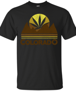 Retro Colorado Marijuana Cotton T-Shirt
