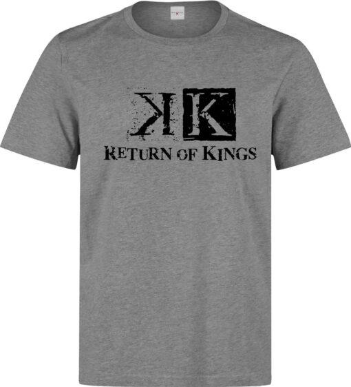 Return Of K (Available For Women) King Anime Logo Men Gray T Shirt