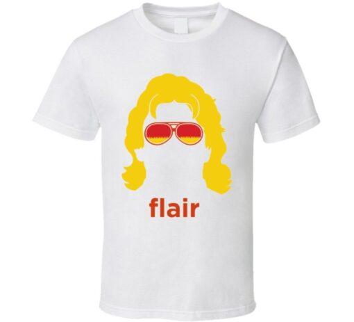 Ric Flair Silhouette White T Shirt