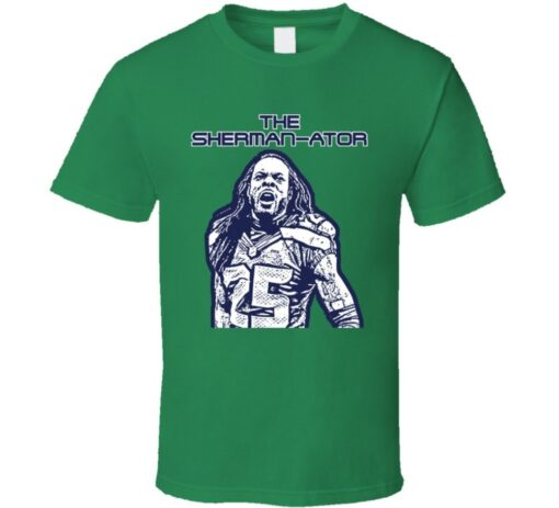 Richard Sherman Seattle Soccer Shermanator T Shirt