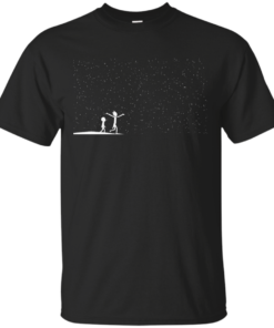 Rick and Morty Star Viewing Cotton T-Shirt