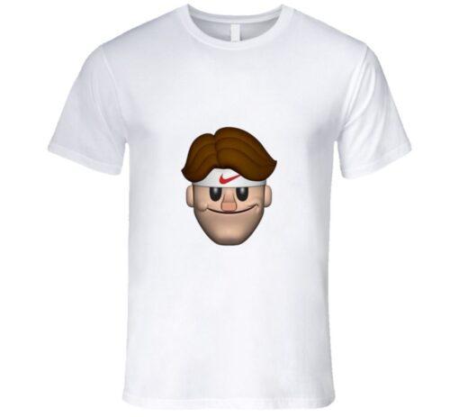 Roger Federer Tennis Legend Funny Emoji T Shirt