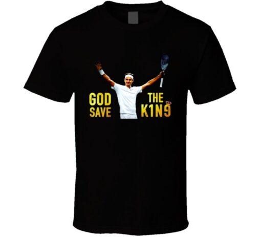Roger Federer Wimbledon King Goat 8 Titles Tennis Legend Story T Shirt