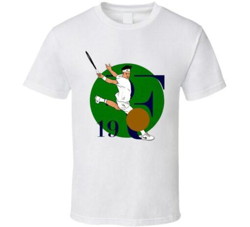 Roger Federer Wimbledon Perfect 8 Story Titles Tennis Legend T Shirt