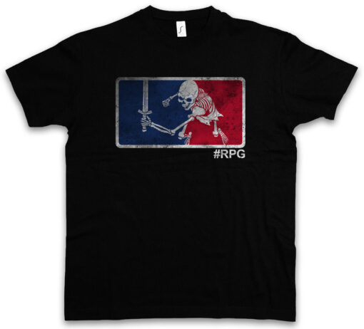 #Rpg Gamer Dungeons Video Games And Rpg Role Playing Dragons Larp T Shirt