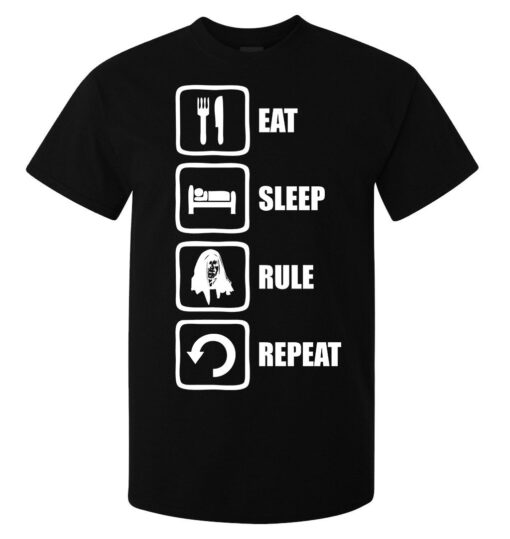 Rule Eating Sleep Repeat (Available For Women) Emperor Palpatine Black Men T Shirt