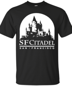 SF Citadel Logo in White Cotton T-Shirt