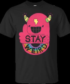 STAY WEIRD hip Cotton T-Shirt