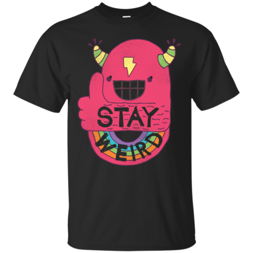 STAY WEIRD hip Cotton T-Shirt
