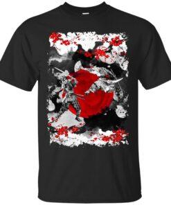 Samurai Fighting Cotton T-Shirt