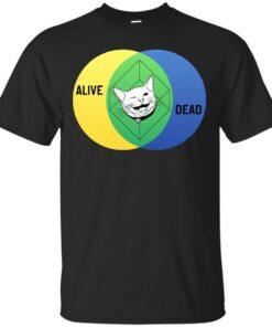 Schrdingers Cat Venn Diagram Cotton T-Shirt