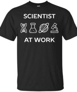 Scientist At Work Cotton T-Shirt