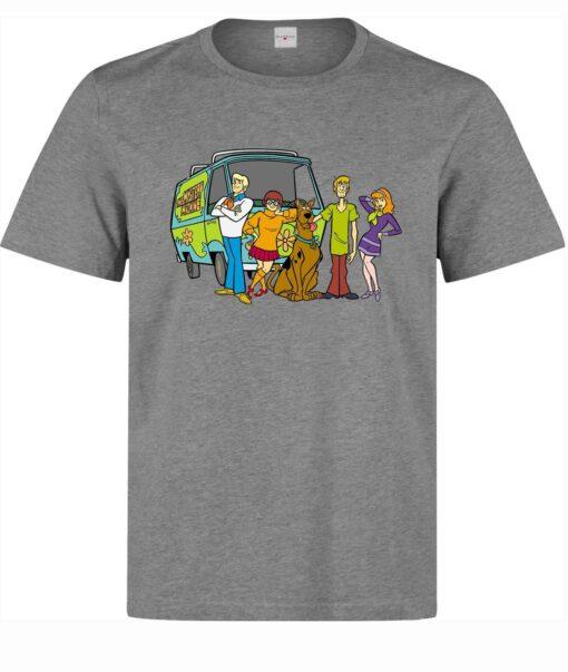 Scooby Doo Cartoon Character Artwork (Available For Women) Men Gray T Shirt