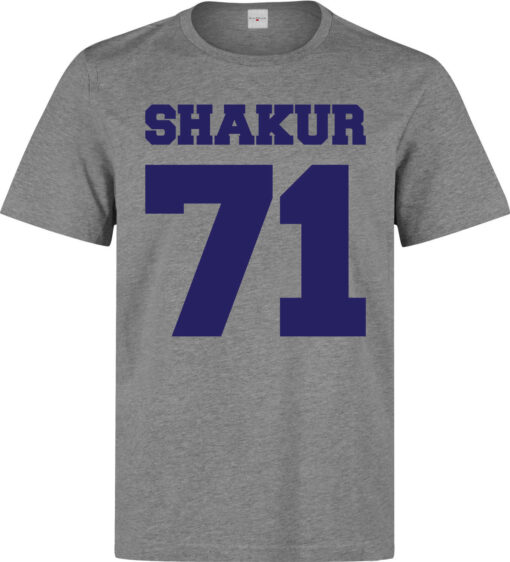 Shakur 71 Number Lema Quality Elegant Men (Women Available) Gray T Shirt